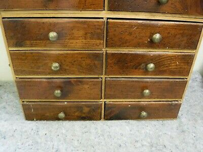Antique 8 Drawer Wooden Organizer Cabinet