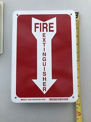 "Fire Extinguisher Arrow Metal Aluminum Sign OSHA 7x10"" Indoor Outdoor"