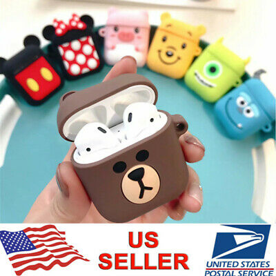 Apple AirPods 3D Cute Cartoon Silicone Holder Shockproof Protective Cover Case