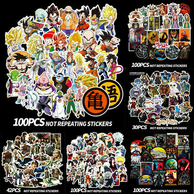 30/42/100 Sticker Game of Thrones Dragpn Ball Naruto Star Wars Harry Potter New