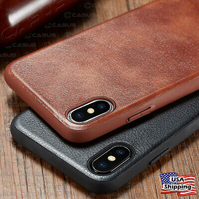 SLIM Leather Back Ultra Thin TPU Case Cover For iPhone XR XS MAX 8/7 Plus