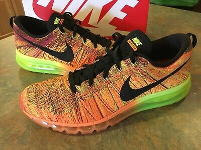 8ca1cef6cb RARE Nike Flyknit Air Max 2014 Size 15 GREAT SHAPE Black Orange Jordan