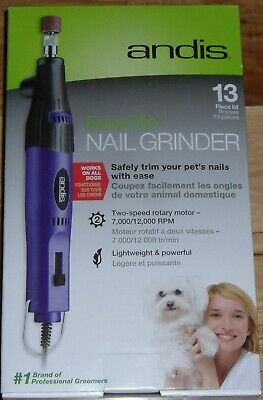 Brand New Andis EasyClip 13 Piece Kit Nail Grinder ANG-1 Works with All Dogs