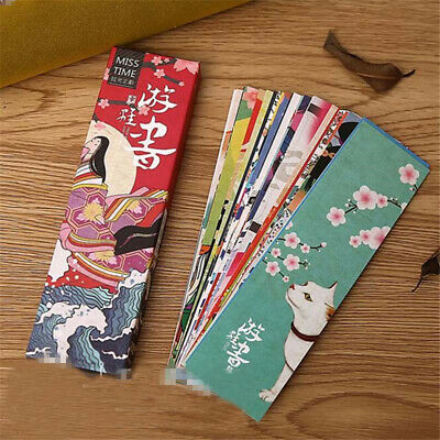 30pcs/lot Cute Paper Bookmark Vintage Japanese Style Book Marks School Materials