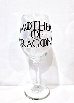 Game of Thrones Wine Glasses Mother of Dragons  Set of 2