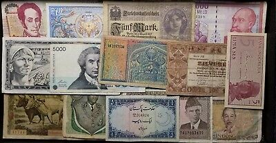 Foreign Currency World Paper Lot Of Great Banknotes Aa05