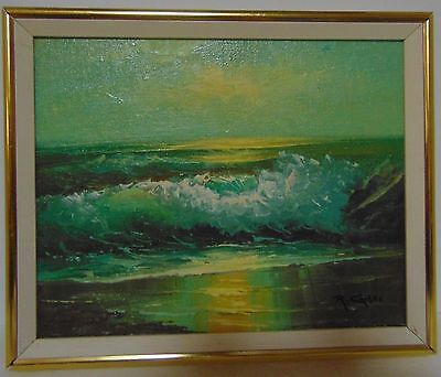 R. Cristi - Stormy Water - Seascape - Oil On Board - Signed & Framed