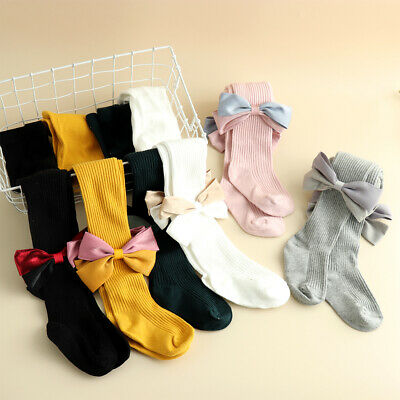 Baby Girls Kids Solid Warm Cotton Tights Stockings Pantyhose Pants Socks Worthy