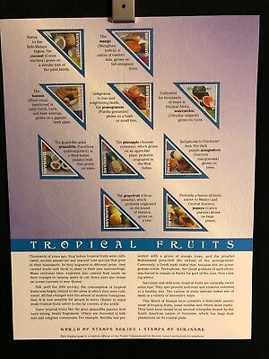 World Of Stamps Tropical Fruits Series Collection 10 Stamps Suriname