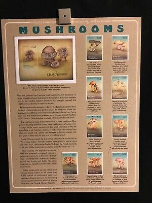 World Of Stamps Mushrooms Series Collection 9 Stamps