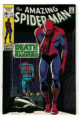 Marvel comics 75 Death without warning Amazing Spiderman 1969 8.5 VFN+ stunning