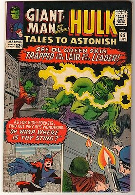 Marvel TALES TO ASTONISH 69 HULK ANT-MAN Pym GIANT MAN AVENGERS FN+