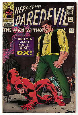Marvel Comics DAREDEVIL Issue 15 And Men Shall Call Him Ox! VG/F