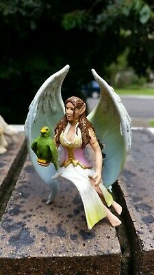 Lot 50 of 50. SCHLEICH Bayala? green winged fairy + bird -can ride horse Lot 49