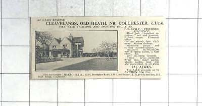 1935 Cleavelands Old Heath Near Colchester Seven Bedrooms And 23 Acres For Sale