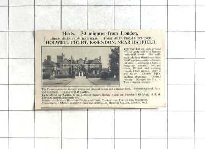 1935 Holywell Court Essendon Near Hatfield 19 Bedrooms And 28 Acres For Sale