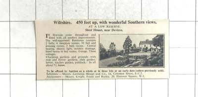 1935 Stert House Near Devizes Wiltshire, 10 Bedrooms On 7 Acres For Sale