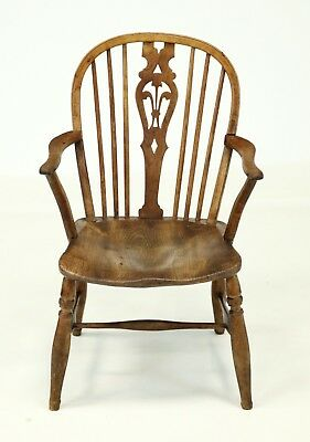 Windsor Elbow Chair 19th Century Fruitwood Elm FREE Nationwide Delivery