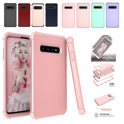 For Samsung Galaxy Note 9 S9 S10 Rugged Hybrid Full Shockproof Hard Case Cover