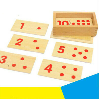 Educational Wooden Number Matching Puzzle Kids Geometric Board Number-Shape Toy