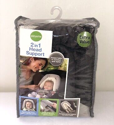 2 In 1 Baby head support By Playette - Like New!
