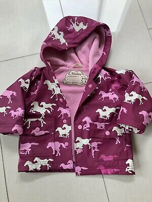 Hatley Girls Raincoat Horses 6-12 Months