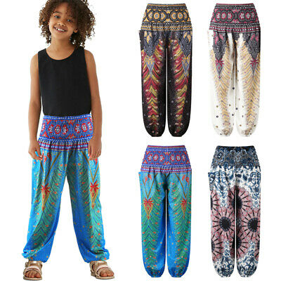 Womens Baby Grils Harem Yoga Pants Dance Bloomers Casual Bottoms Baggy Trousers
