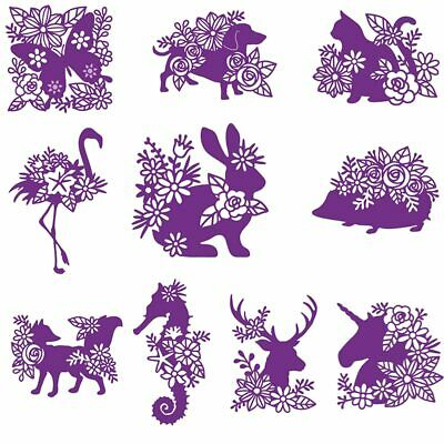 Silhouette Animals Metal Cutting Dies Stencils For DIY Scrapbooking Cards Crafts