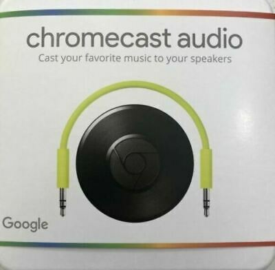 Google Chromecast Audio Media Streamer -Black BRAND NEW