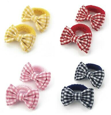 Girls Gingham Hair Bows Bobbles Ponios Baby Little Girls Hair Bows Small