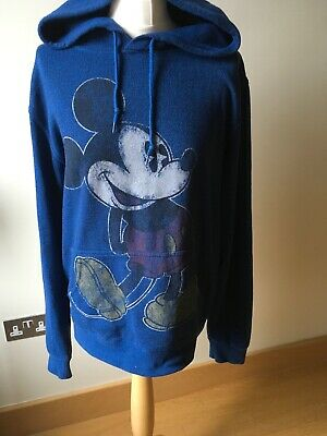 Disney Original Mickey Mouse Blue Hoodie Size Medium