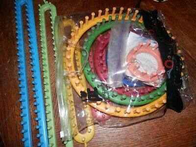 Nifty Knitter Looms, Tools, Large Lot, Pre Owned