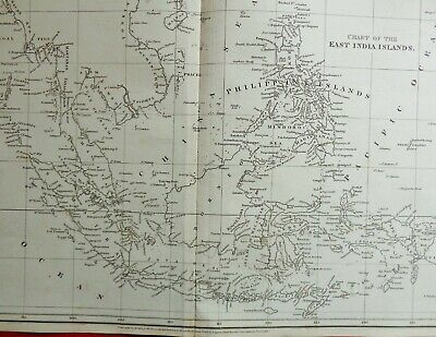 Rare Map Of The East India Islands 1808