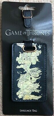 Game Of Thrones Westeros Map Luggage Tag New