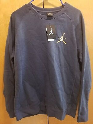 NIKE JORDAN JUMPMAN Brushed Graphic Crew Men's Sweatshirt 802218 464 Size Large