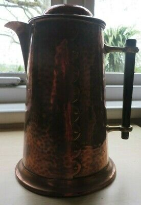 Arts and Crafts hammered copper jug/coffee pot
