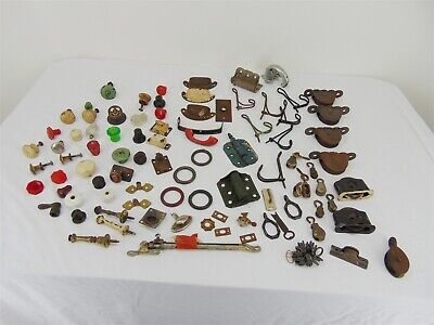 Mixed Lot Antique HARDWARE Sash Pulleys, Knobs Handles and More!