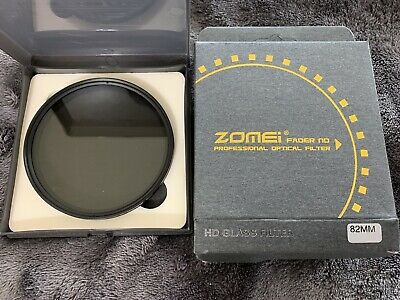 ZOMEI 82mm ND2-400 Ultra Slim Fader Adjustable Variable Neutral Density Filter