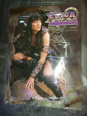 Xena Warrior Princess 1999 Wall Calendar - NEUF & SCELLE - New & Sealed