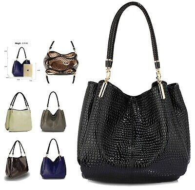 Ladies Handbags Designer New Women's Snake - Effect Shoulder Bags Faux Leather