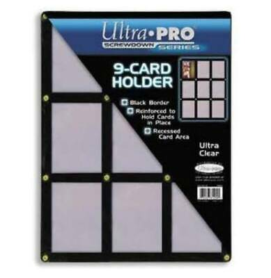 Ultra Pro 9-Card Black Frame Screwdown Card Holder