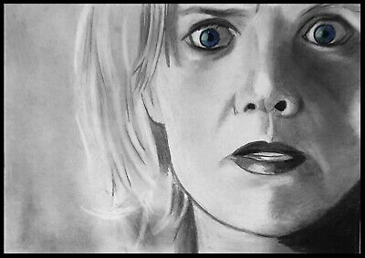 ACEO Carbon Graphite sketch card  stargate   Samantha Carter