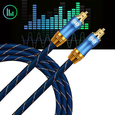 Braided Toslink Digital Fiber Male to Male Optical Audio Cable SPDIF Dolby DTS