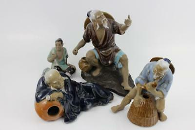 Vintage 4 Chinese Porcelain Figures in Stunning Detail Hand Painted 19cm Tallest