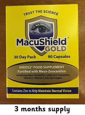 270 Macushield Gold Omega 3 dual-capsule eye care supplement 3 months supply