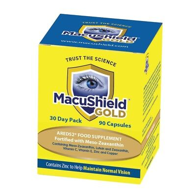 MacuShield Gold Food Supplement - Pack of 90 Capsules macular carotenoids AMD
