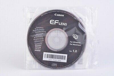 New Canon Ef Lens Version 1.0 Cd For Windows/mac Ct1-7599-000