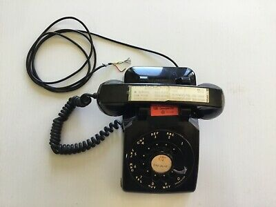 Vintage 60s Western Electric CD 500 Rotary Dial Desk Phone.Black. Untested
