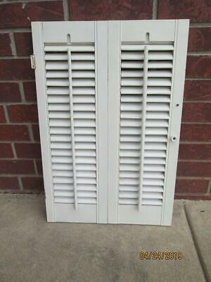 "Interior Wood Wooden Shutter Off White 17 7/8 W x 26 1/2"" T"