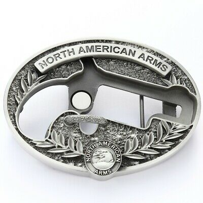 North American Arms 22 Long Rifle  Oval Ornate Belt Buckle Holster - BBO-L 1-1/8